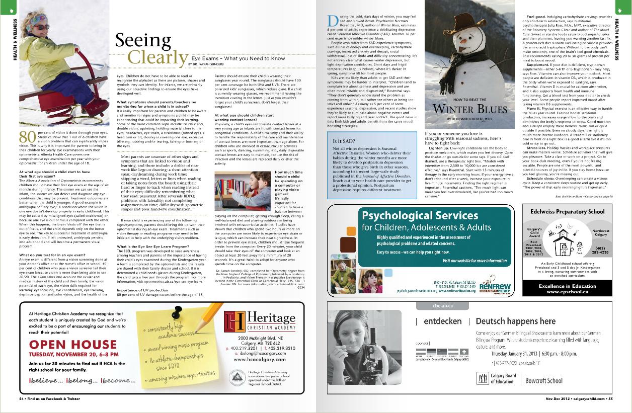 Calgarys Child Magazine 2012 Nov Dec