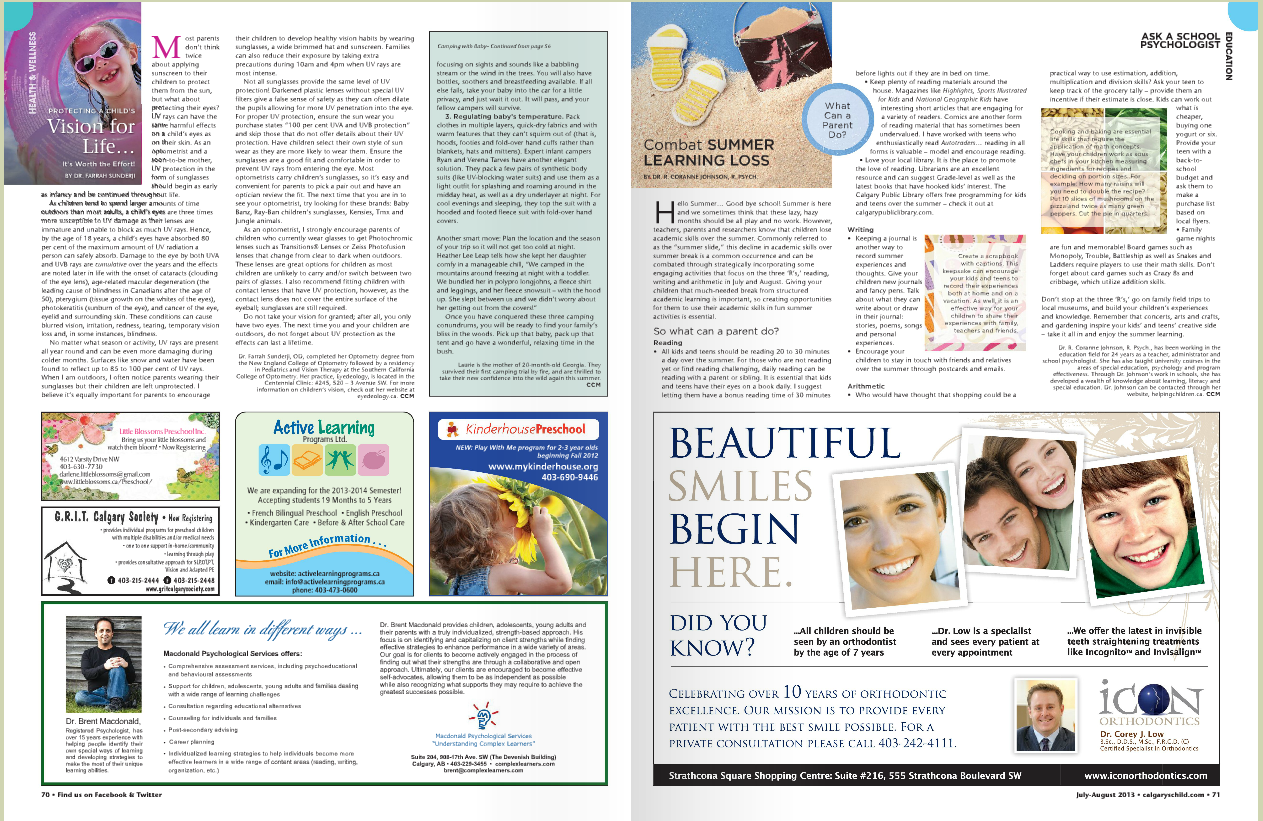 Calgarys Child Magazine 2013 JulyAug